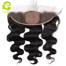 13*4 silk base top quality brazilan human hair extension body wave lace frontal