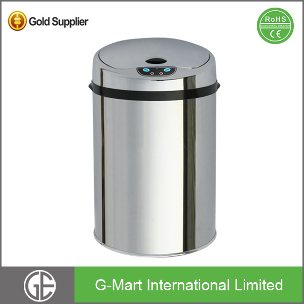 Wholesale Sanitary Hotel Room Dustbin Waste Bin Stainless Steel Fancy Smart Recycling Bin