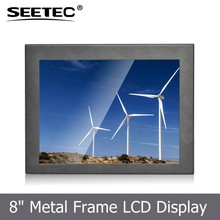 Resistive touchscreen industrial lcd bus 8 inch open metal frame displays low cost lcd monitor