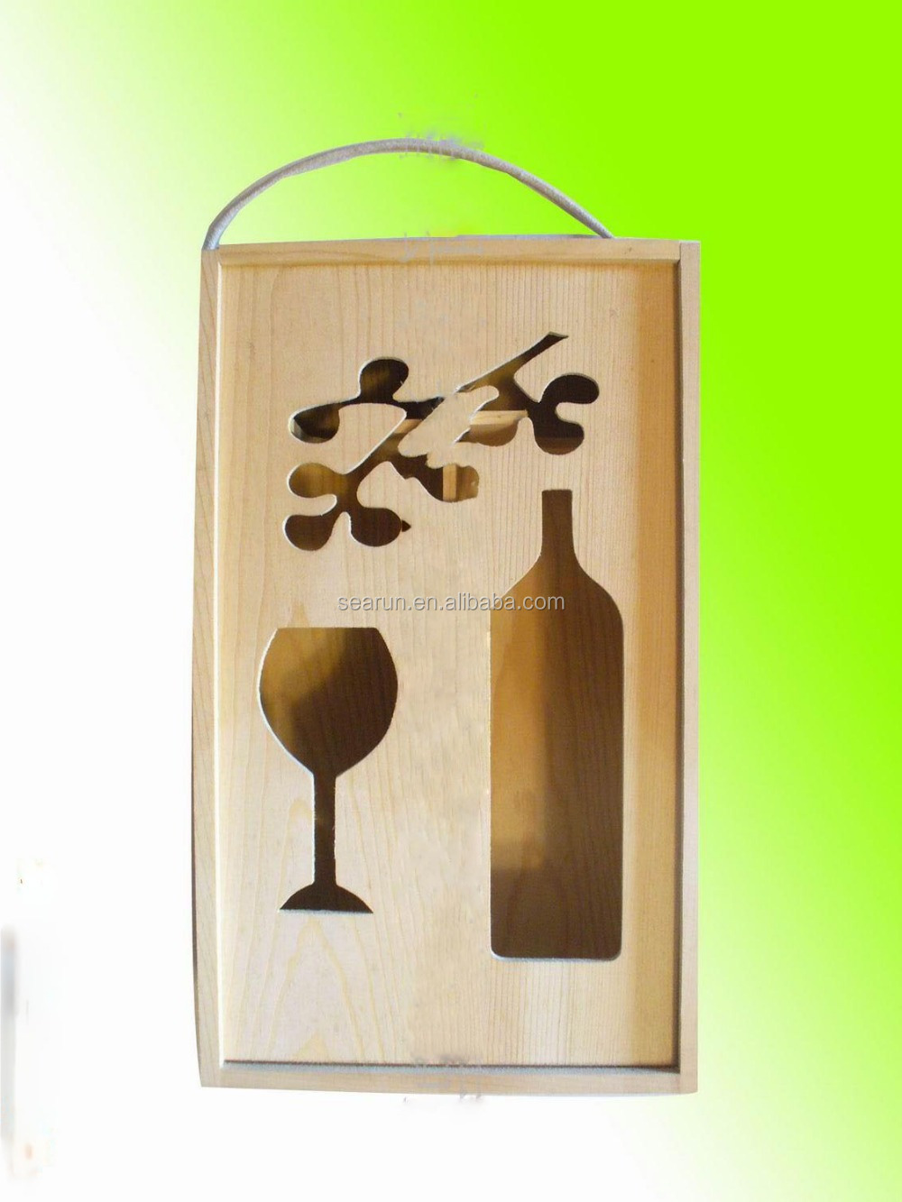 Christmas wooden wine gift boxes /Gift boxes for wine glasses