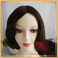Unprocessed Wholesale Price European Hair 16inch Dark Brown Wig human hair wigs