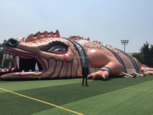 2015 Newly giant inflatable dragon tunnel inflatable huge lizard inflatable dinosaur model for sale