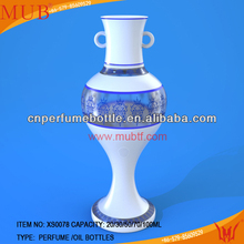 Unique Customized Logo Bulk Glazed Ceramic Perfume Bottle