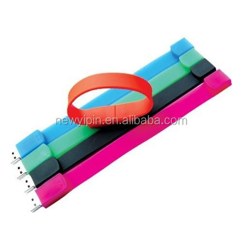 Cheap waterproof silicone usb bracelet