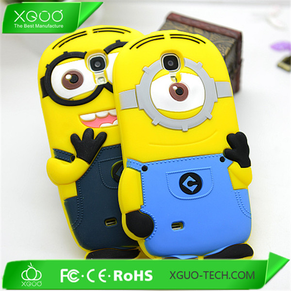 lovely 3D animal minion case for samsung galaxy s4 mini