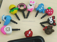 Hot Sale Polymer Clay Cartoon Earplugs Flexible Ear Cap Dustproof for IPhone 4