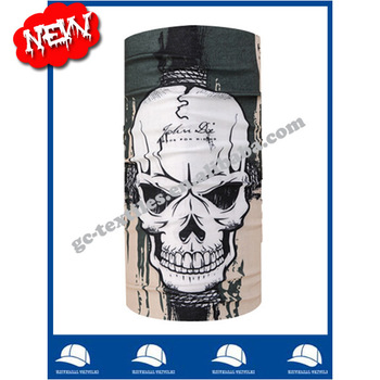 wholesale seamless bandana cap cheap custom bandana printing skull pattern chinese manufactory