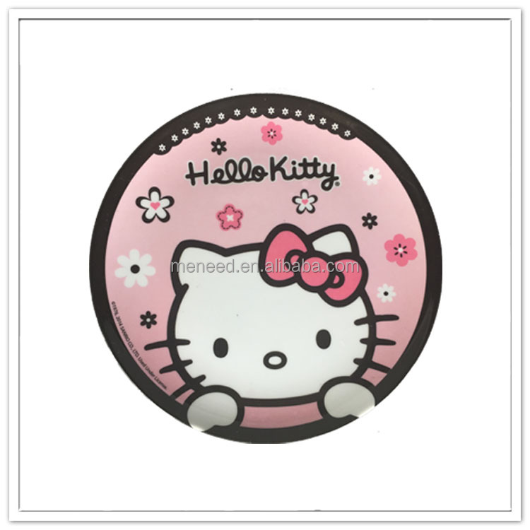 "6.8"" Lovely Winni bear printed 100% melamine plate for kids"