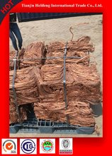 electricity copper wire scrap mill berry 99.99% with low price