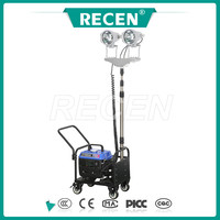 2*150w MH/HPS emergency lighting portable gasoline generator 3m telescopic rod sports stadium mobile flood light towers