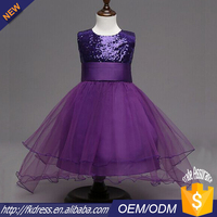 wholesale purple bling bling full long ball gown wedding dresses for kids