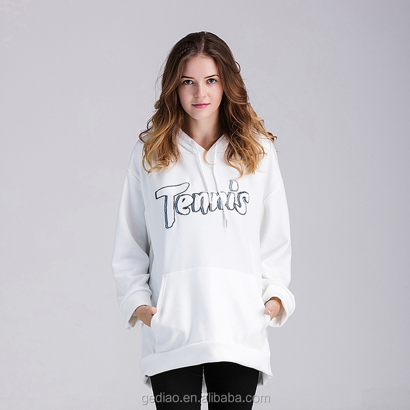 plus size fleeced loose hoodies letter print long sleeves with hood hoodies