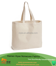 Factory OEM Made To Order plain white cotton canvas tote bag