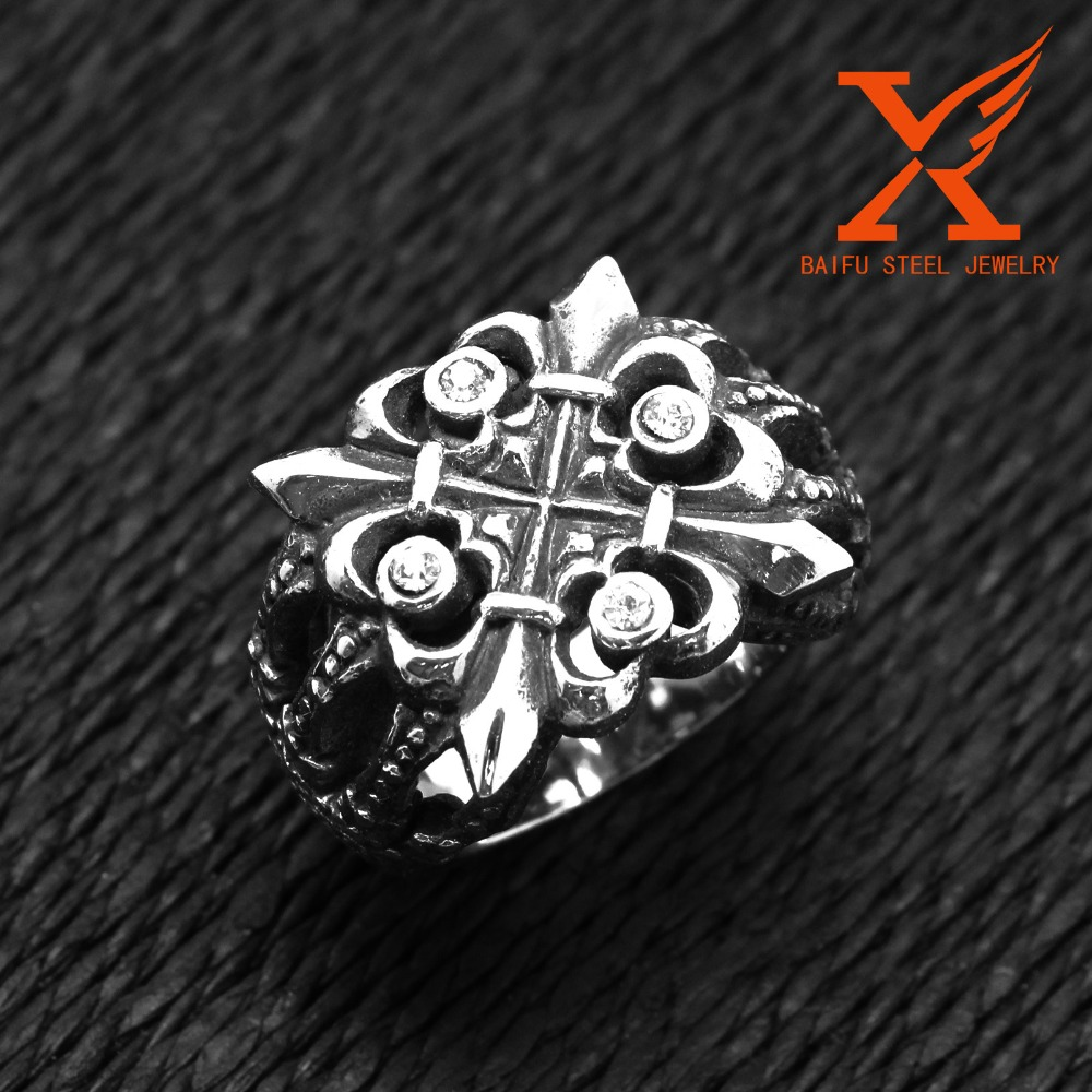 Traditional Jewelry Design Stainless Steel Black Silver King Crown Shaped Ring