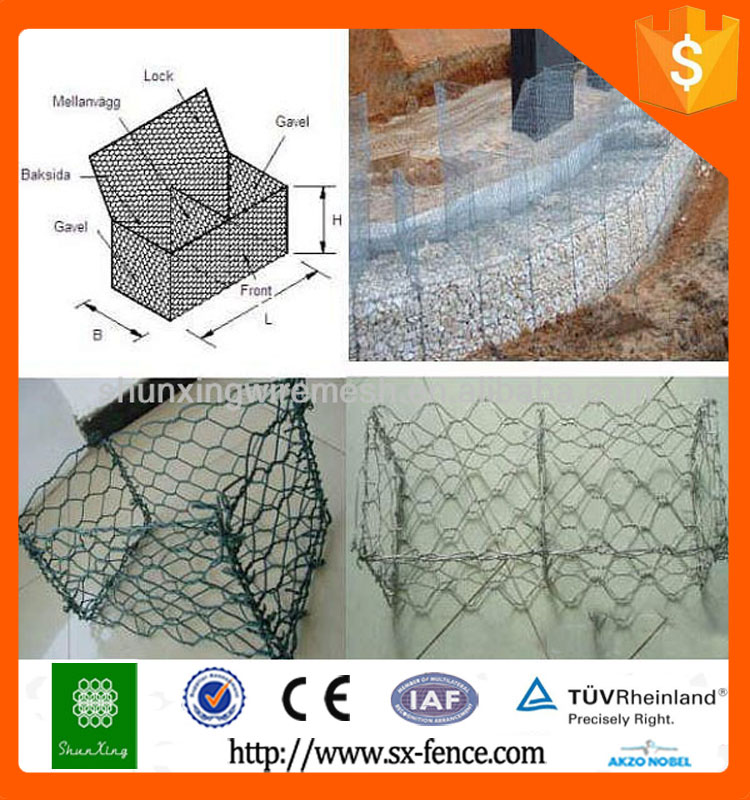 Anping hot sale gabion basket prices /gabion wall /gabions box made in china