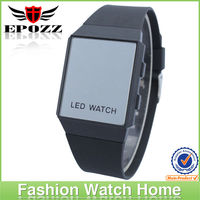 Hottest new fashion colorful strap silicone sport mirror led HOT watch