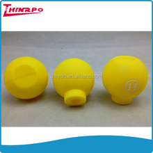 custom made rubber suction head caps silicone ball with hollow inside