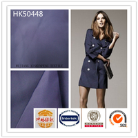 Woven plain stripe 100% polyester imitation memory fabric for jacket
