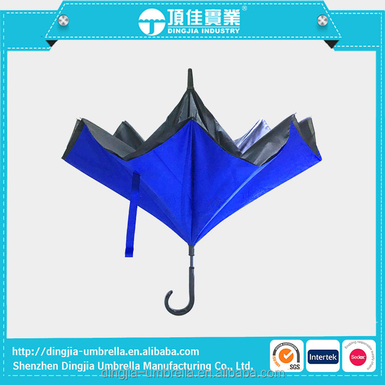 Windproof Double Layer Upside-Down Car Reverse Umbrella Automatic wholesale