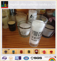 2016 wholesale 7 days glass jar withe color candle for religious and church