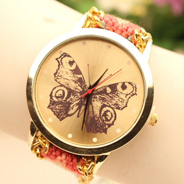 Handmade Beautiful Butterfly Wholesale Brand Watch Accept Paypal