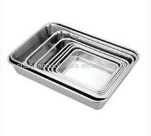 stainless steel square tray turkey tray serving tray