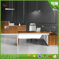 Excellent quality modern manager office furniture melamine board lightweight simple office desk
