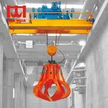 Electric Waste Double Girder Overhead Grab