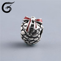 E Guolong 925 sterling silver european big hole beads