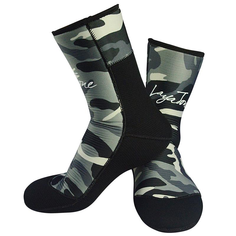 men's women's 7mm neoprene diving socks for winter fishing underwater hunting spearfishing scuba diving 05