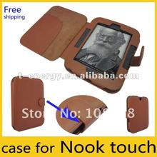 leather case for nook simple touch,for nook2 leather case