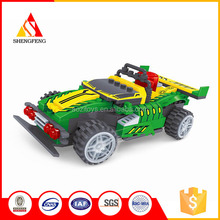 Funny r/c car toys for kids intellect plastic abs bricks toys /cube blocks