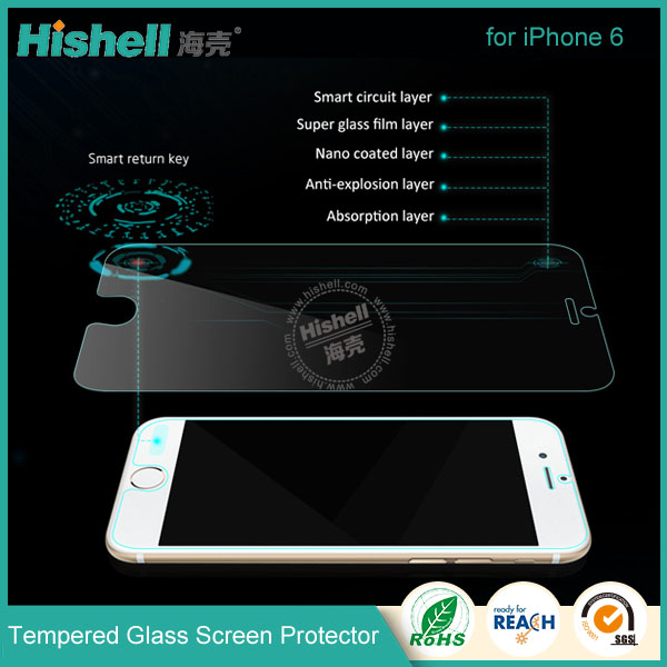 New design smart touch tempered glass screen protector for iPhone 6