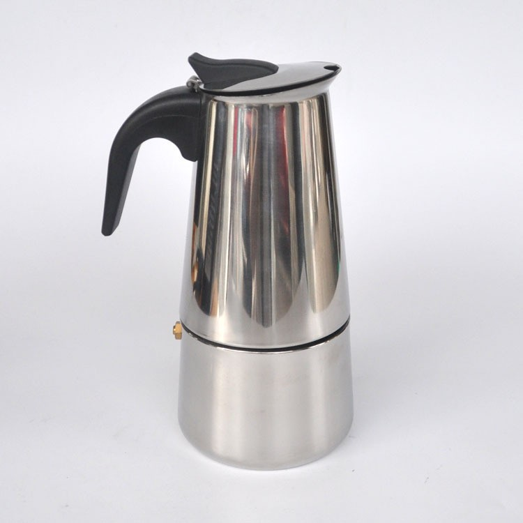 Stainless Steel Moka Express 4Cup 9cups Coffee Maker Stovetop Espresso Pot