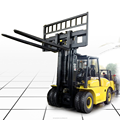 CE Approved pneumatic diesel forklift 7000kg with optional Cab, triple mast, side shift