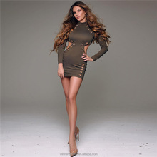 New style long sleeves button front winter woman latest dress designs