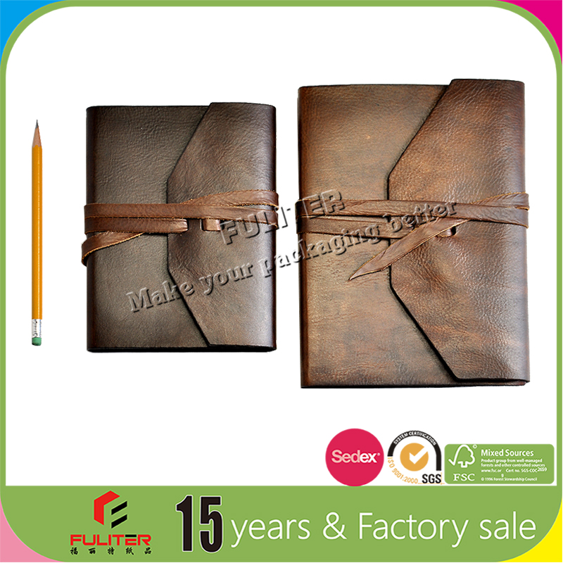 Pu leather bound journal notebook cover