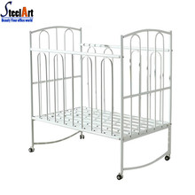 Bedroom mobile steel colorful baby bed