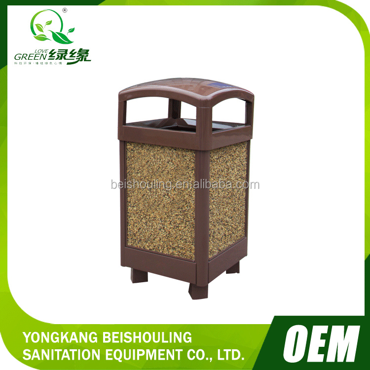 New style fine stone with ashtray decorated trash can/ garbage bin