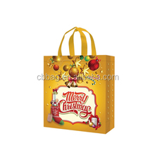 Hot selling Christmas gift laminated non woven shopping bag with strong handle produce in China