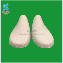 Custom molded fiber pulp shoe support recycled paper insert