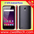 4 Inch TN Screen Bar smartphone MTK6580M Quad Core 3G Android Cellular