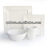 16pcs Porcelain Embossed Dinner Set,Fashion Embossed ceramic dinner set
