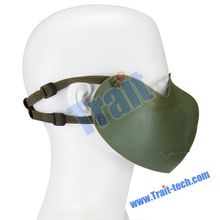 High Quality Plastic Half Face Semiprotected Mask With Cheek Strap