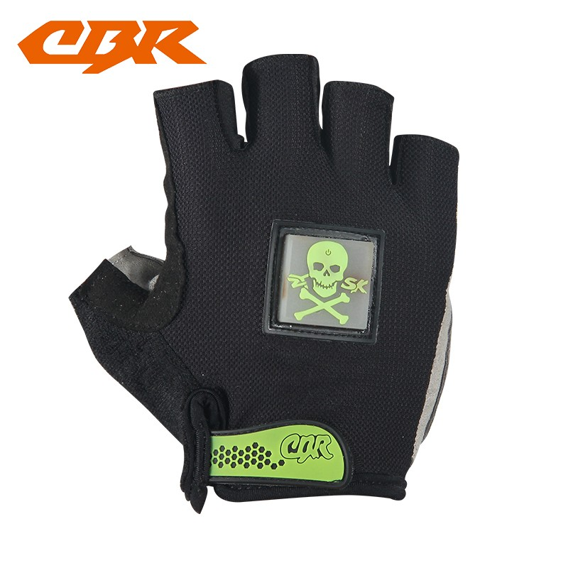 OEM bicycle Gloves with LED signal light bike Half finger gloves sports gloves with light