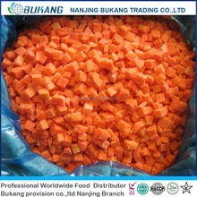chinese hot sale healthy food IQF carrot slices carrot dices frozen carrot with good price