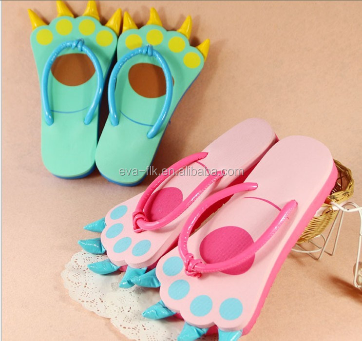 2017 Hot Sale Popular Toy Slippers EVA Sole Rubber /PVC Straps Beach Flip Flop Kids Flip Flop Shippers