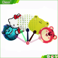 Fancy design plastic advertising animal hand fan