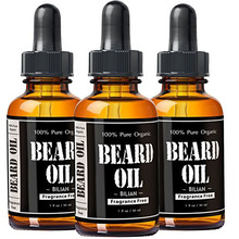 Private Label Beard Oil & Leave In Conditioner 100% Pure Natural Organic for Groomed Beards, Mustaches, and Moisturized