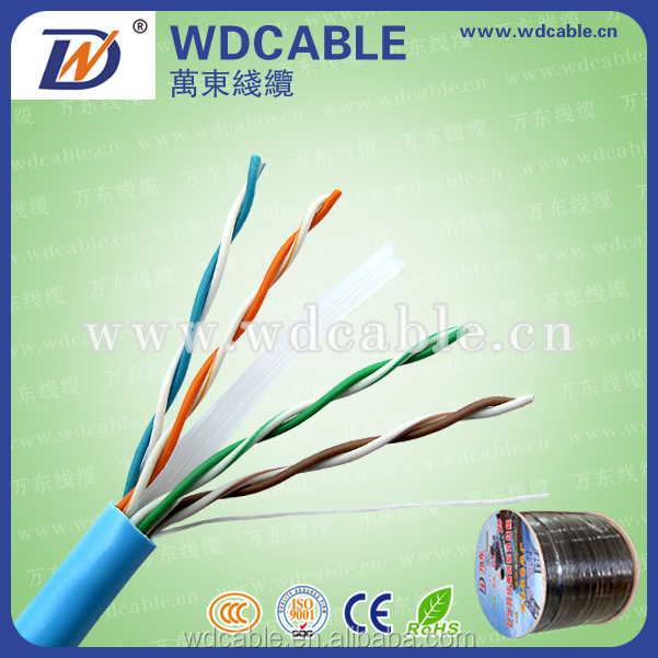 Import China Goods Network Cable Cat6 UTP Cable The elevator cable with steel strand 300 Meters